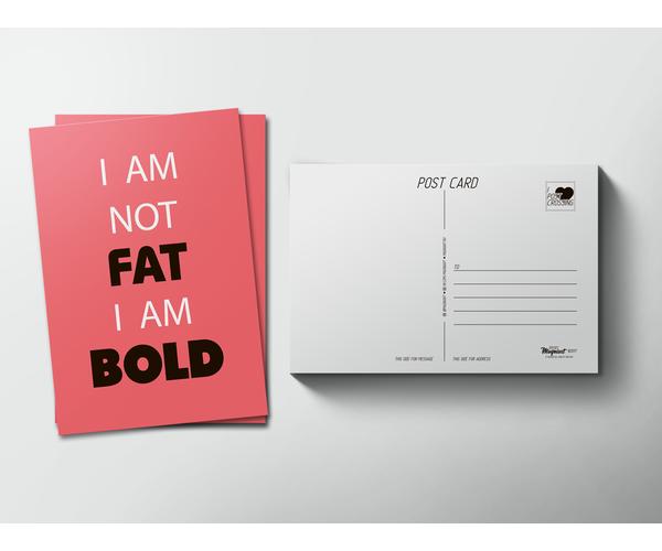 Почтовая открытка «FAT-BOLD» для посткроссинга