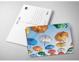 Почтовая открытка «Зонтики»
