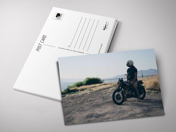 Почтовая открытка «Мотоциклист»