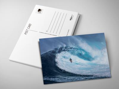Почтовая открытка «Поймать волну» для посткроссинга