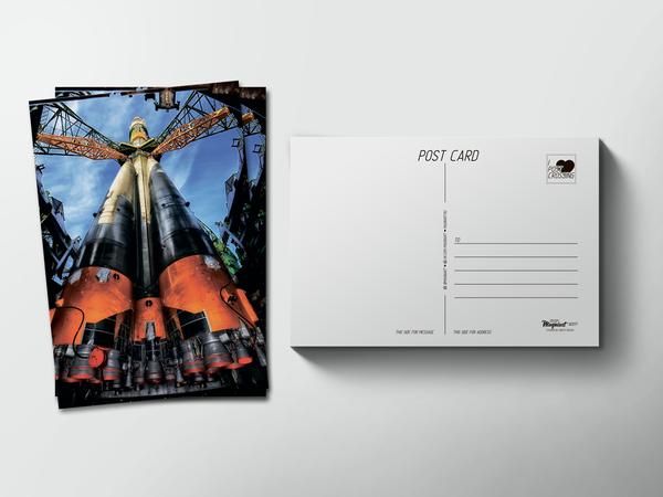 Почтовая открытка «Космический корабль», космос