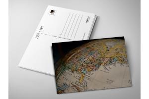 Почтовая открытка «Глобус»