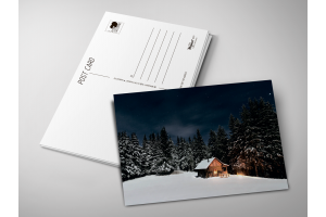 Почтовая открытка «Зимний дом»