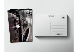 Почтовая открытка «Поезд уходит с перрона»