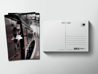 Почтовая открытка «Поезд уходит с пирона»