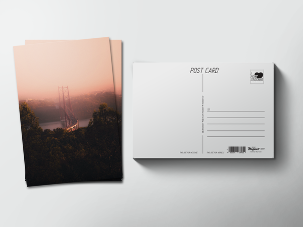 Почтовая открытка «Мост в тумане»