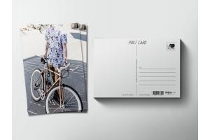 Почтовая открытка «Велосипедист»