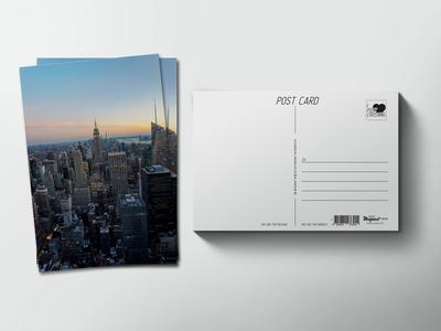 Почтовая открытка «Небоскребы с высты птичьего полета»