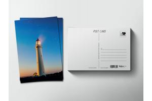 Почтовая открытка «Маяк на закате»