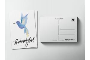 Почтовая открытка «Птица Колибри»