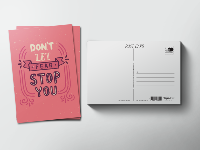 Почтовая открытка «Don't let fear stop you»
