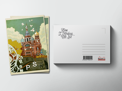 Почтовая открытка «храм Спас на Крови»