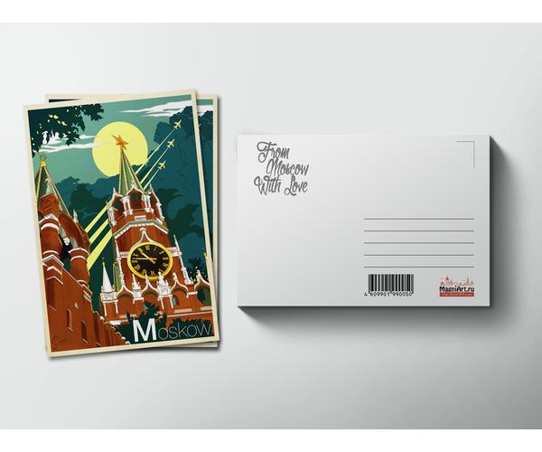 Почтовая открытка «Московский Кремль» из коллекции Ретро постер