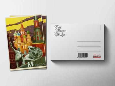 Почтовая открытка «собор Василия Блаженного»