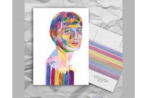 Почтовая открытка из серии «Писатели и поэты: Ахматова А. А.»