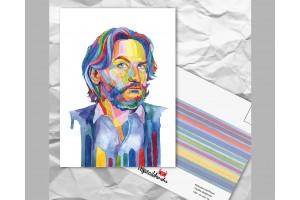 Почтовая открытка из серии «Писатели и поэты: Бегбедер Ф.»
