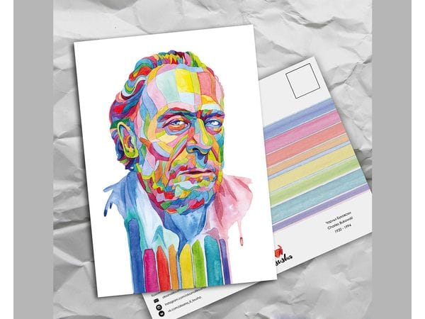 Почтовая открытка из серии «Писатели и поэты: Буковски Ч.»