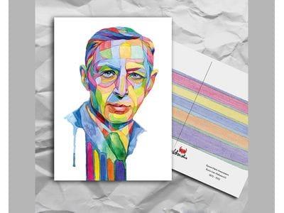 Почтовая открытка из серии «Писатели и поэты: Бунин И. А.»