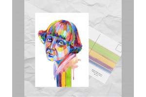 Почтовая открытка из серии «Писатели и поэты: Цветаева М. И.»
