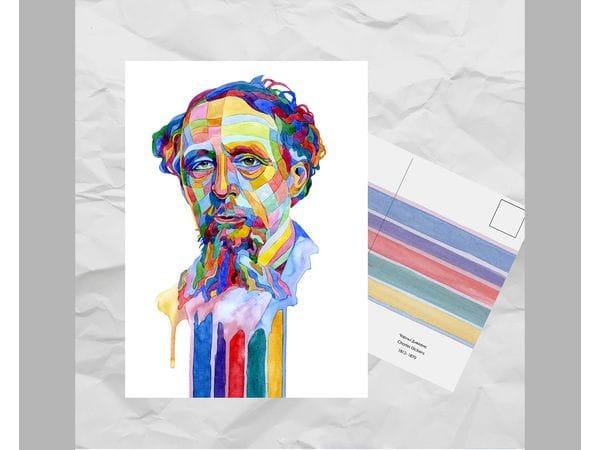 Почтовая открытка из серии «Писатели и поэты: Диккенс Ч.»