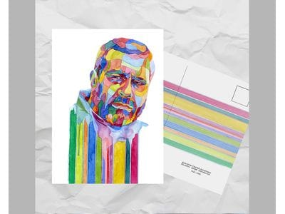 Почтовая открытка из серии «Писатели и поэты: Довлатов С. Д.»
