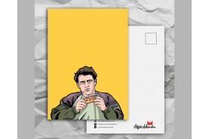 Почтовая открытка с любимыми героями из сериала «Friends: Джо не делится едой»