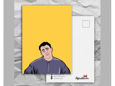 Почтовая открытка с любимыми героями из сериала «Friends: Джо не уверен»