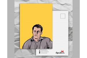 Почтовая открытка с любимыми героями из сериала «Friends: Джо сомневается»
