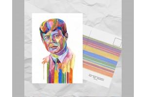 Почтовая открытка из серии «Писатели и поэты: Есенин С. А.»