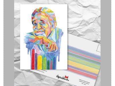 Почтовая открытка из серии «Писатели и поэты: Гарсиа Маркес Г.»
