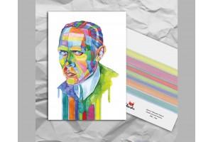 Почтовая открытка из серии «Писатели и поэты: Хармс Д. И.»