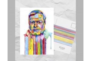 Почтовая открытка из серии «Писатели и поэты: Хемингуэй Э.»