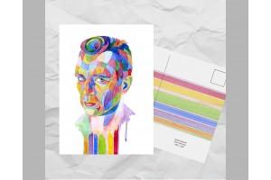 Почтовая открытка из серии «Писатели и поэты: Керуак Д.»