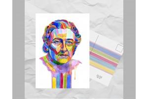 Почтовая открытка из серии «Писатели и поэты: Кристи А.»