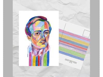 Почтовая открытка из серии «Писатели и поэты: Лермонтов М. Ю.»