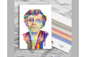Почтовая открытка из серии «Писатели и поэты: Линдгрен А.»
