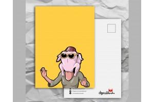 Почтовая открытка с любимыми героями из сериала «Friends: Моника - индюшка»
