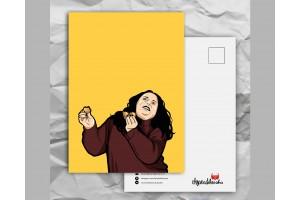 Почтовая открытка с любимыми героями из сериала «Friends: Моника - толстушка»