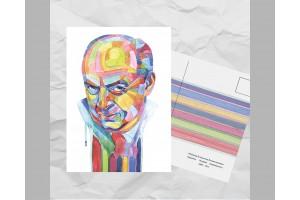 Почтовая открытка из серии «Писатели и поэты: Набоков В. В.»