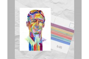 Почтовая открытка из серии «Писатели и поэты: Паланик Ч.»