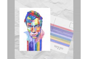 Почтовая открытка из серии «Писатели и поэты: Пастернак Б. Л.»