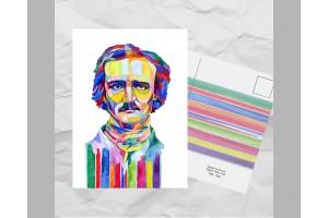 Почтовая открытка из серии «Писатели и поэты: По Э. А.»