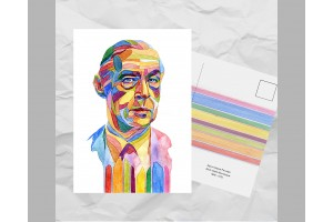 Почтовая открытка из серии «Писатели и поэты: Ремарк Э. М.»