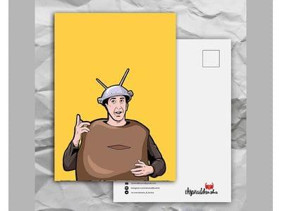 Почтовая открытка с любимыми героями из сериала «Friends: Росс - Спутник»