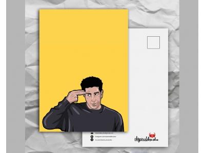 Почтовая открытка с любимыми героями из сериала «Friends: Роос и его «унаги»