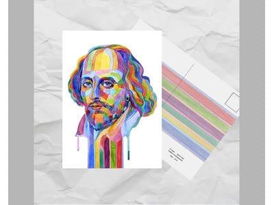 Почтовая открытка из серии «Писатели и поэты: Шекспир У.»