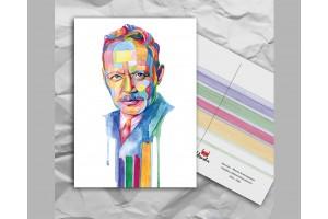Почтовая открытка из серии «Писатели и поэты: Шолохов М. А.»