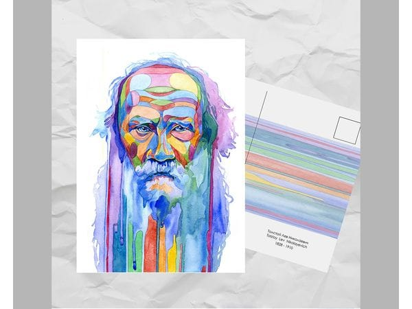 Почтовая открытка из серии «Писатели и поэты: Толстой Л. Н.»