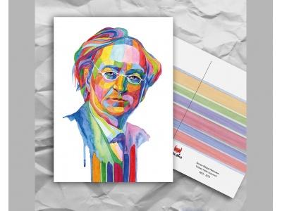 Почтовая открытка из серии «Писатели и поэты: Тютчев Ф. И.»