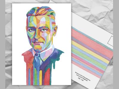 Почтовая открытка из серии «Писатели и поэты: Ф. С. Фицджеральд»